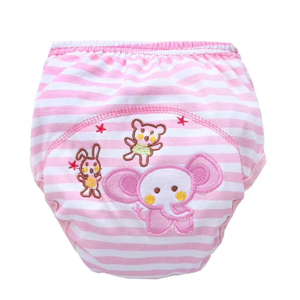 MagiDeal Baby Boy Girl Infant Kids Toilet Potty Training Pants Cotton Underwear Nappy - Cat, 12-24 Months non-brand
