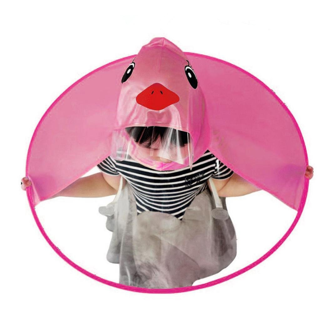 LILICAT Children Raincoat Creative Cute UFO Duck Rain Coat Waterproof Cloak Umbrella Hat Headwear Outdoor for Kids Boys Girls Waterproof Cloak,Light-Weight & Foldable & Boneless (Blue, M) China