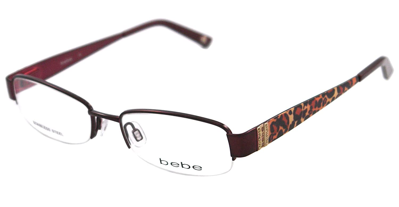 4ef7ddf51a66 Bebe Eyeglasses BB 5028 BURGUNDY 002 BURGUNDY COURTEOUS  Bebe  Amazon.ca   Clothing   Accessories