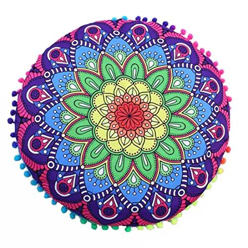 Botrong Indian Mandala Floor Pillows Round Bohemian Cushion