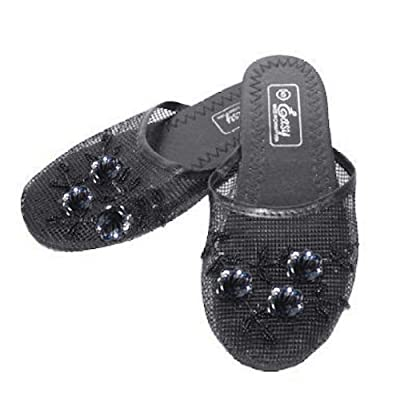 Amazon.com | Easy Women's Black Chinese Mesh Slippers | Slippers