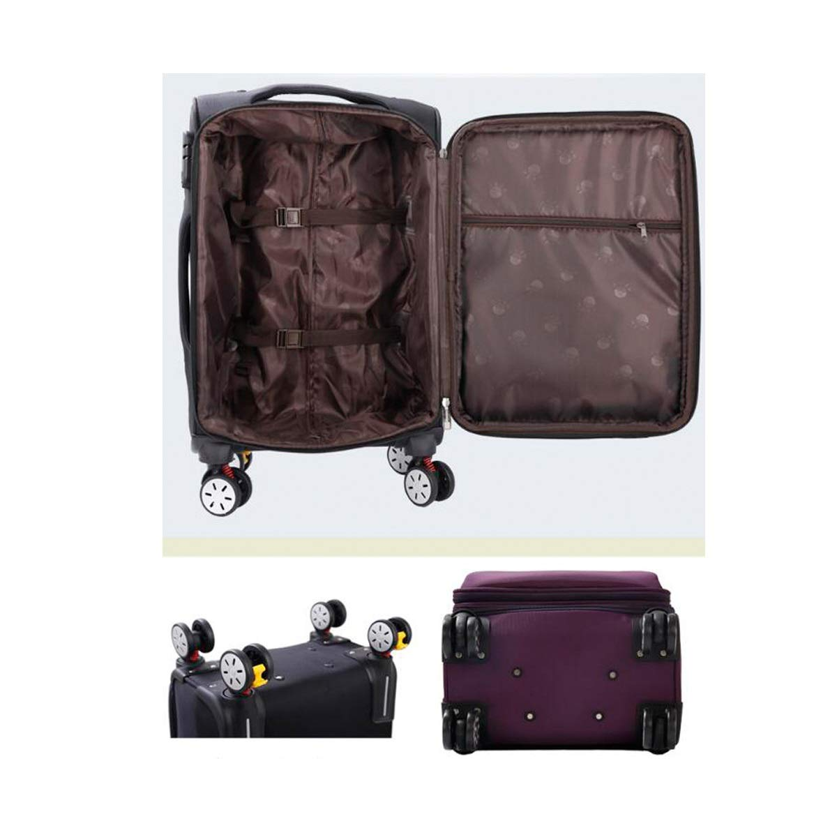 Simple Trolley Case Best Gift Black The Latest Style Travel Organizer Color : Blue, Size : 22 Huijunwenti Soft Rotating Luggage 20//22//24 Carrying Case