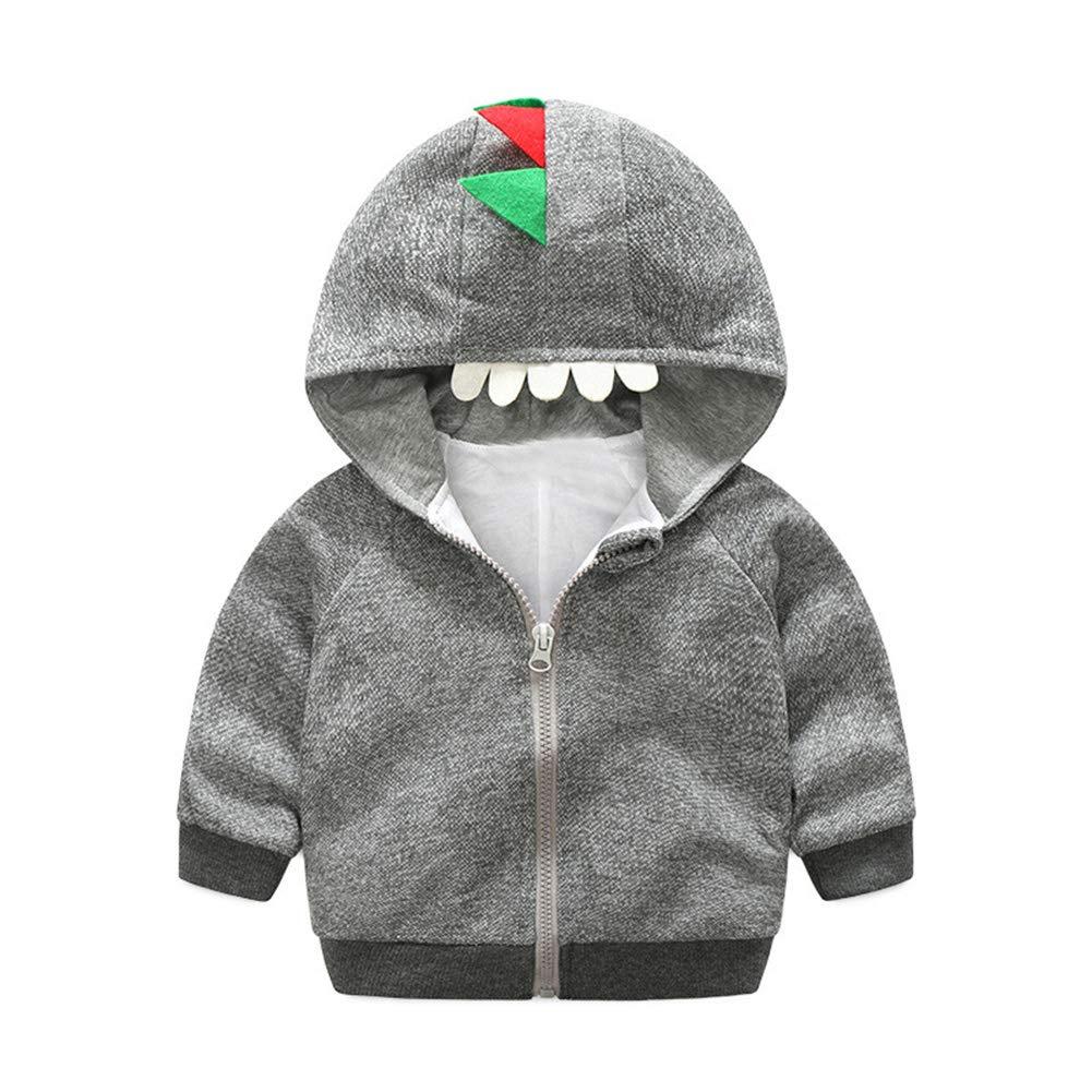 TAIYCYXGAN Baby Boys Long Sleeve Dinosaur Jacket Clothes Toddler Zip-up Hoodies Sweatshirt Cardigan Outwear