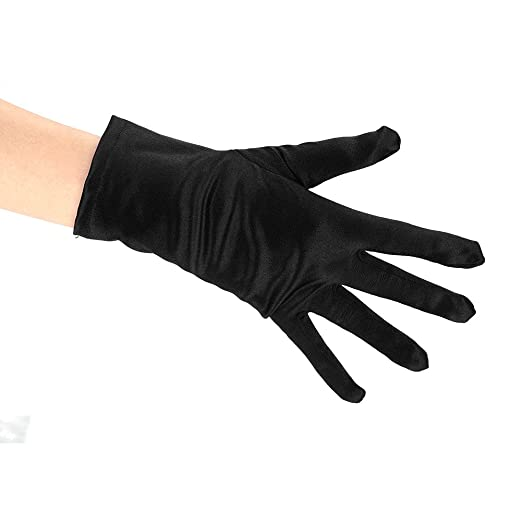 Short Stretch Satin Gloves for Women Ladies Wrist Length Gloves Special  Occasion Gloves Party Gloves Costume 3b1cf8efb