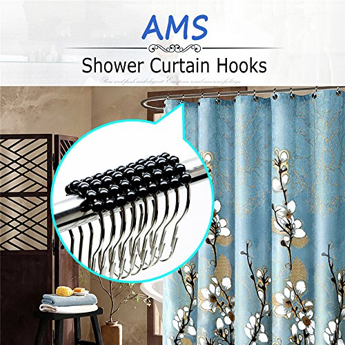 From Usa Ams Shower Curtain Hooks Rings 100 Stainless Steel Decorative With Polished