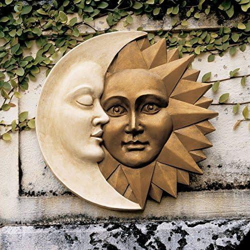 MOON Celestial Face Metal Wall Accent Art Decor
