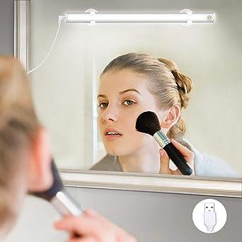 Elfeland LED Spiegelleuchte Make-up Licht Spiegellampe Schminklicht  Schminkleuchte Tageslichtlampe LED-Lichtleiste Schrankleuchte (USB Dimmbar  6500k ...