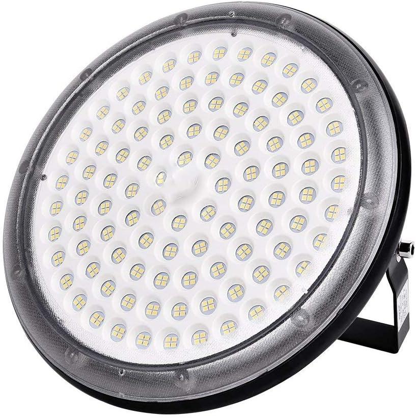 Ankishi UFO LED Lámpara de Alta Bahía, Blanco Frío Iluminación 100W 10000LM, Impermeable IP65, Iluminación Comercial Luces para Depósitos, Fábricas, Patio, Aeropuerto, Centro Comercial y Restaurante.