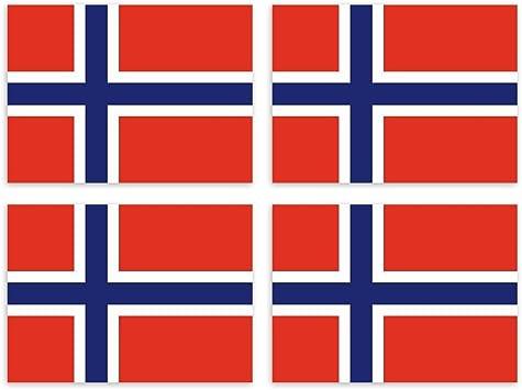 Kiwistar Aufkleber 4 5 X 3 2 Cm Norwegen Land Staat Autoaufkleber Flagge Länder Wappen Fahne Sticker Kennzeichen Auto