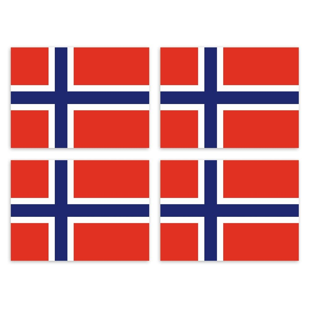 KIWISTAR Aufkleber 4, 5 x 3, 2 cm Norwegen - Land Staat Autoaufkleber Flagge Lä nder Wappen Fahne Sticker Kennzeichen
