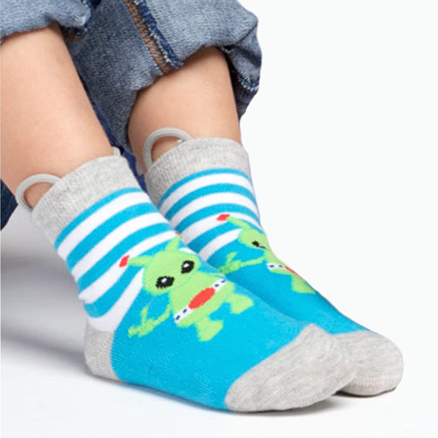 Amazon.com: Boys Toddler Socks, Seamless Non Skid Grip Monsters, Alien, Robot, Pull Up Ez Socks: Clothing