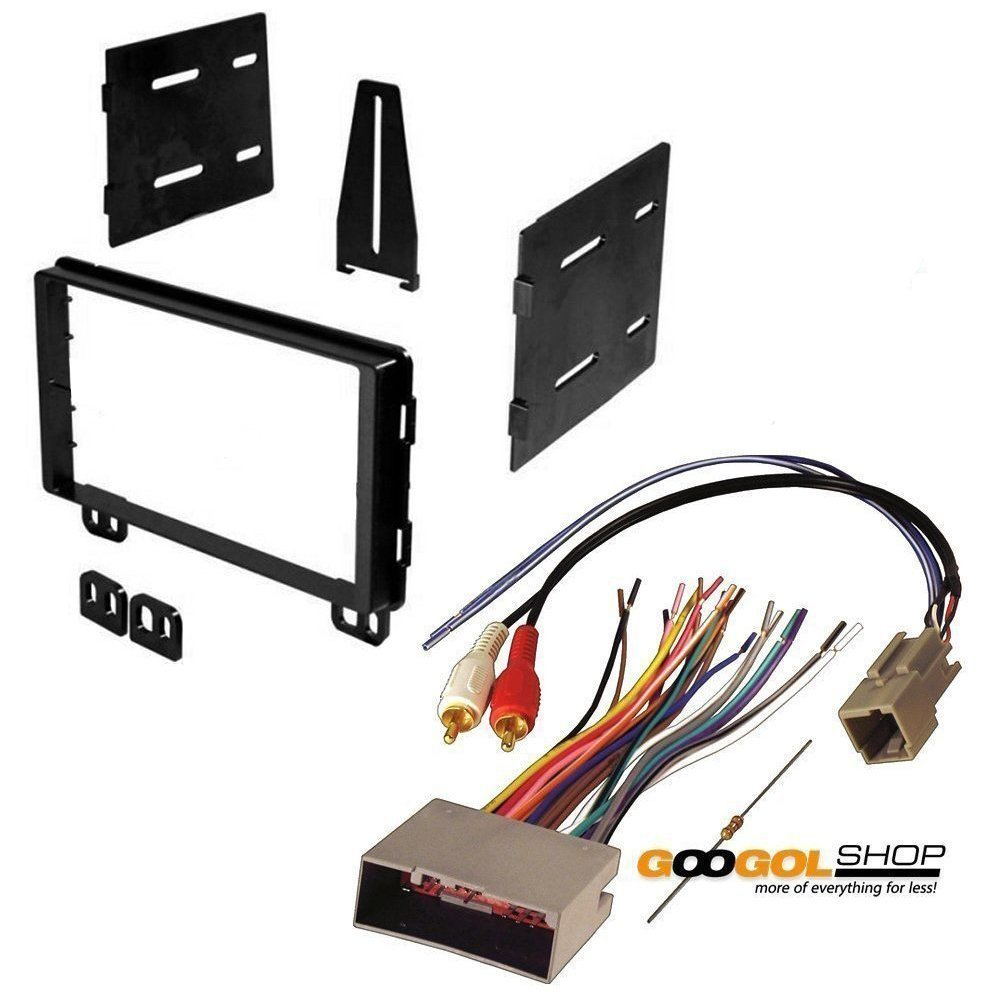 amazon com: lincoln 2004-2006 navigator (without factory navigation) car  stereo dash install mounting kit wire harness: car electronics