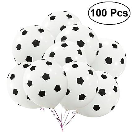 Toymytoy 100 Stucke 12 Zoll Party Fussball Ballon Fussball Latex Rubber Balloons Fur Dekoration 3 5g Fussball Muster