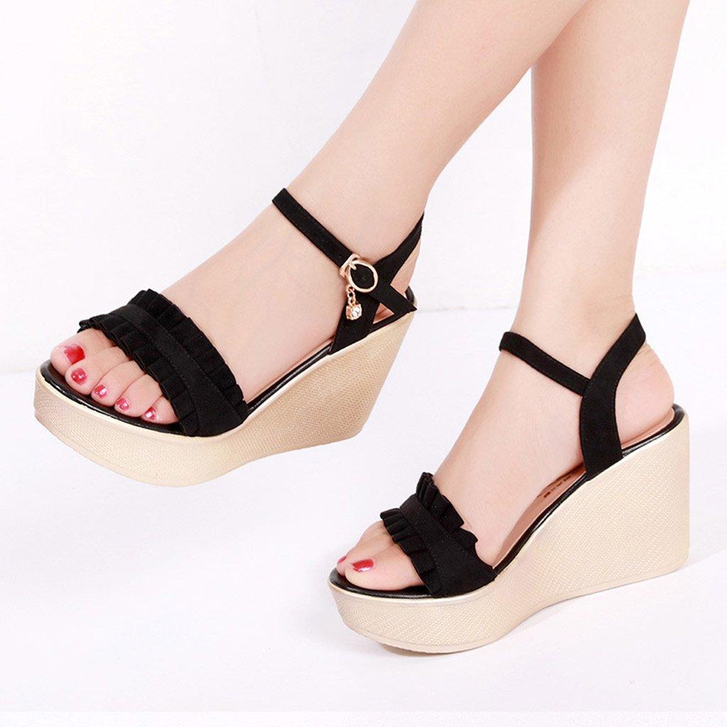 SANDALI Summer Latest Sandals - Wedge with Platform Impermeabile Impermeabile Impermeabile 8.5CM Scarpe col Tacco Alto, Donna Sexy (colore   nero, Dimensioni   36) c4d98f