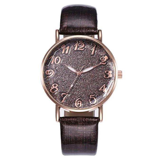 Yivise Mujeres Moda Reloj Simple Cinturón de Cuero Dial ...