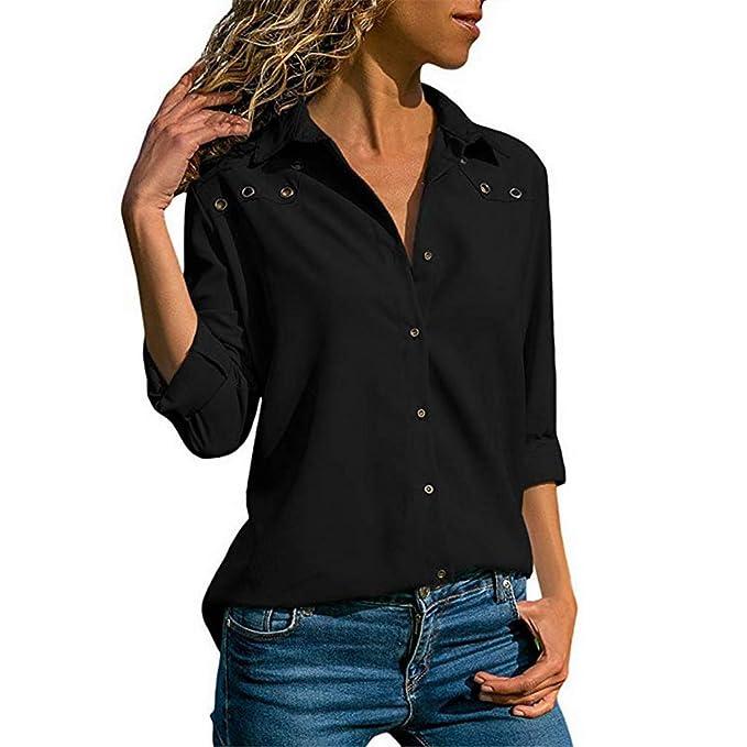 Blusa para Mujer de Primavera, otoño, Oficina, Blusas y Blusas de ...