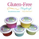 Clean Dough   Gluten Free   Soy-Free   Dye Free   Playdough (NO ARTIFICIAL COLORS & SCENT FREE)(5 Pack)