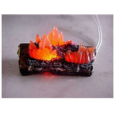 Dollhouse Miniature Raging Fireplace or Camping Fire Logs Doll House Miniatures: Toys & Games