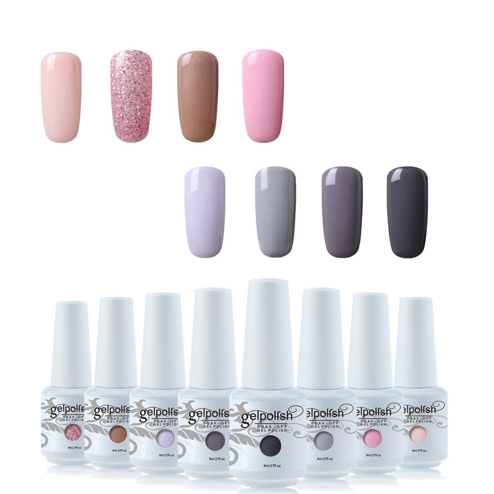 Vishine Soak Off Gel Polish Set Beauty Manicure DIY Mixed 8 Colours Starter Set #C002