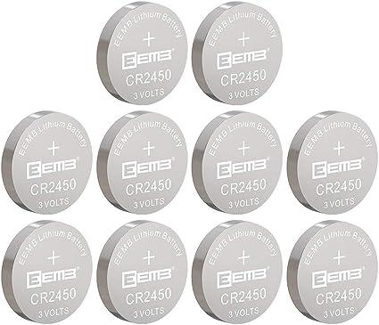 10Pcs Cell Button Battery Socket Holder CR2450 Battery Recharge 3V Plastic Black