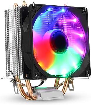 3Pin DC 12V luz de Fondo Colorida 90mm CPU Ventilador Ventilador ...