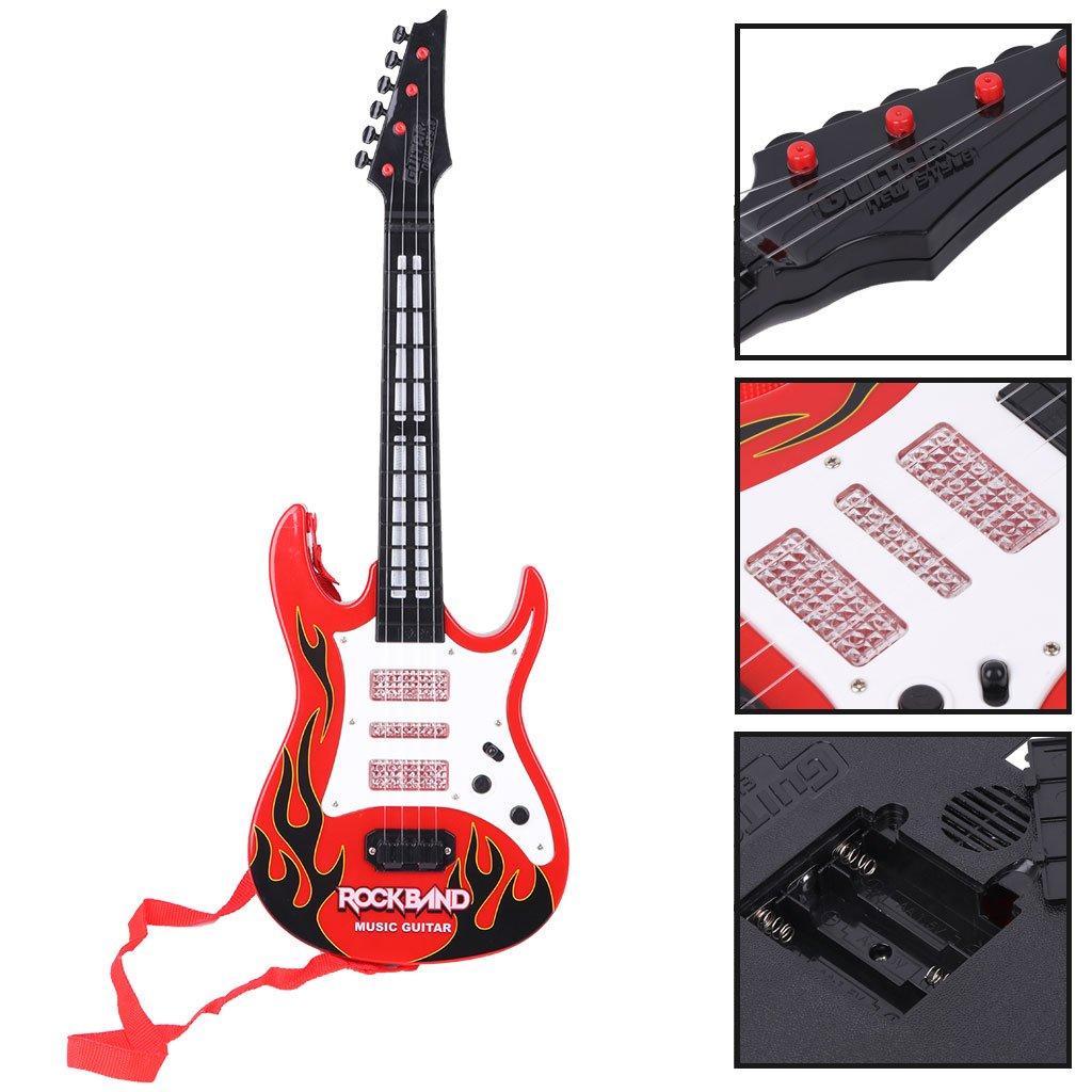 JAGENIE Fire Rock Music - Guitarra eléctrica con Instrumentos Musicales, Juguete Educativo para niños: Amazon.es: Hogar