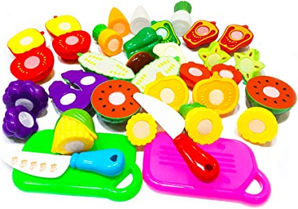 Fruit Role Play Fruit Vegetable Food Cutting Reusable Pretend Kitchen WA
