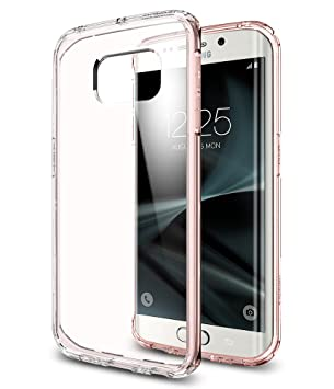 spigen Funda Galaxy S7 Edge, [Protección Transparente] Carcasa para Samsung Galaxy S7 Edge Cover Ultra Hybrid - Rose Crystal (556CS20035)