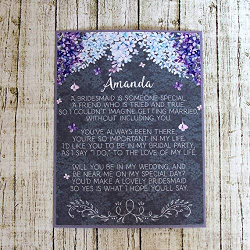 Lilac Asking Bridesmaid Or Maid Of Honor Invitation ()