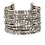 SPUNKYsoul Metal Cuff Bracelet in Silver, Gold or Multi Tone Collection (Silver)