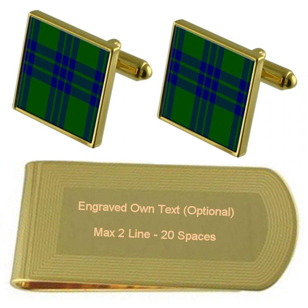 Tartan Clan Montgomery Engraved Gold-Tone Money Clip
