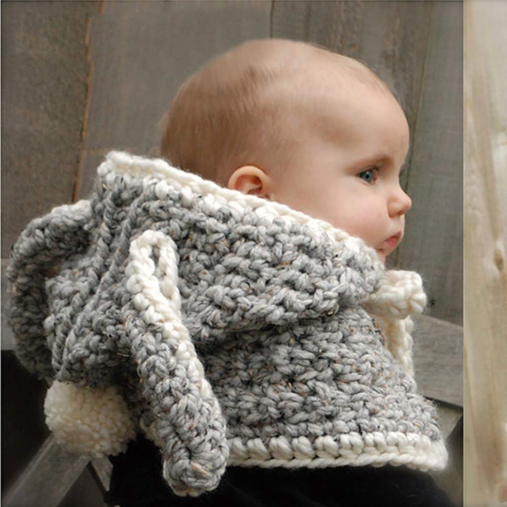Scarfs for Women Infinity,Childrens Hat Hook Rabbit Wool Hat Cloak Winter Warmer hat,Baby /& Toddler Toys