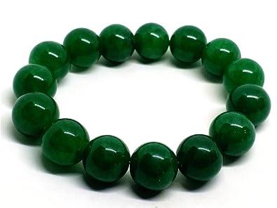 Yigedan Bracelet élastique avec perles vertes en jade  Amazon.fr  Bijoux bbcd410c8e03