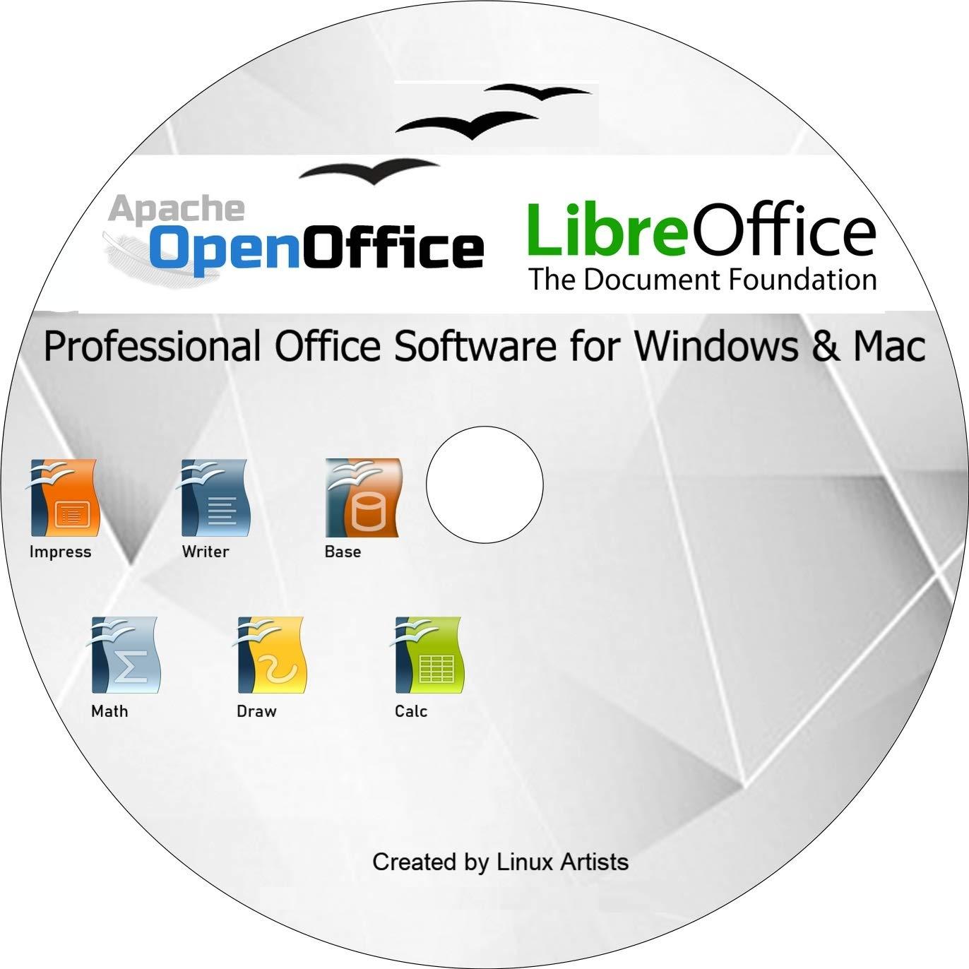 Apache Open Office Libre Office 2019 Vollständige Aktuelle Ausgabe Für Alle Windows Und Mac Alternative Zu Microsoft Office Kompatibel Mit Word