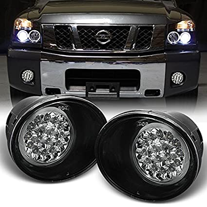 for nissan titan armada clear lens led driving fog light lamp w switch wiring Nissan Leaf