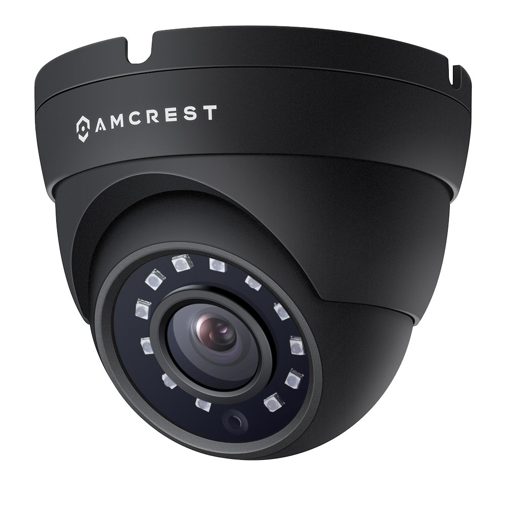 Amcrest Full HD 1080P 1920TVL Dome Outdoor Security Camera, 2MP 1920×1080, 3.6mm Lens 90 Viewing Angle, Black REP-AMC1080DM36-B Renewed