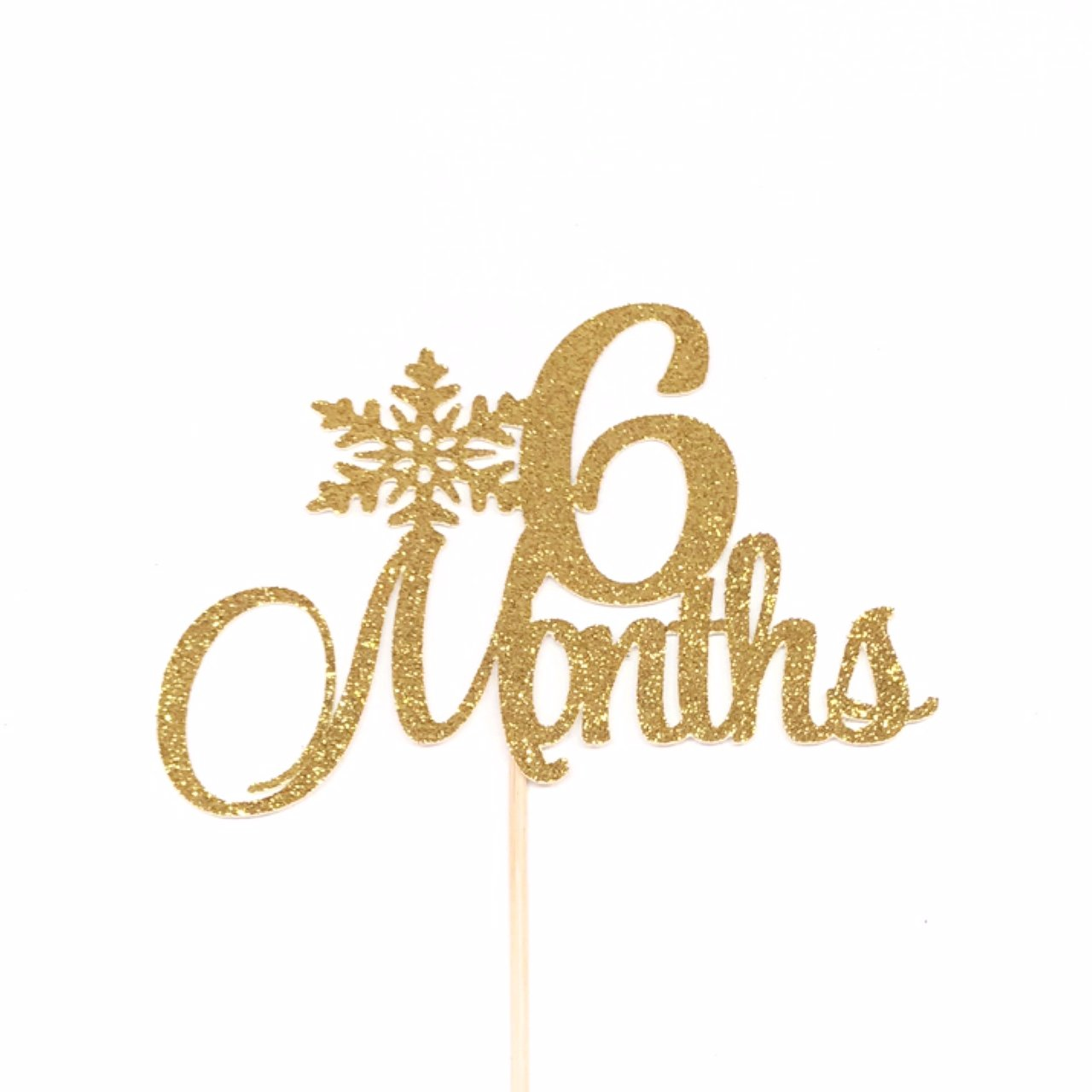 6 Months Cake Topper, Winter Baby Birthday Cake Topper, Snowflake Cake Topper, Half Cake Topper, Half Birthday Cake Topper, 1/2 Birthday Cake Topper, Happy 6 Months Cake Topper, 1/2 Cake Topper, 6 Months Anniversary
