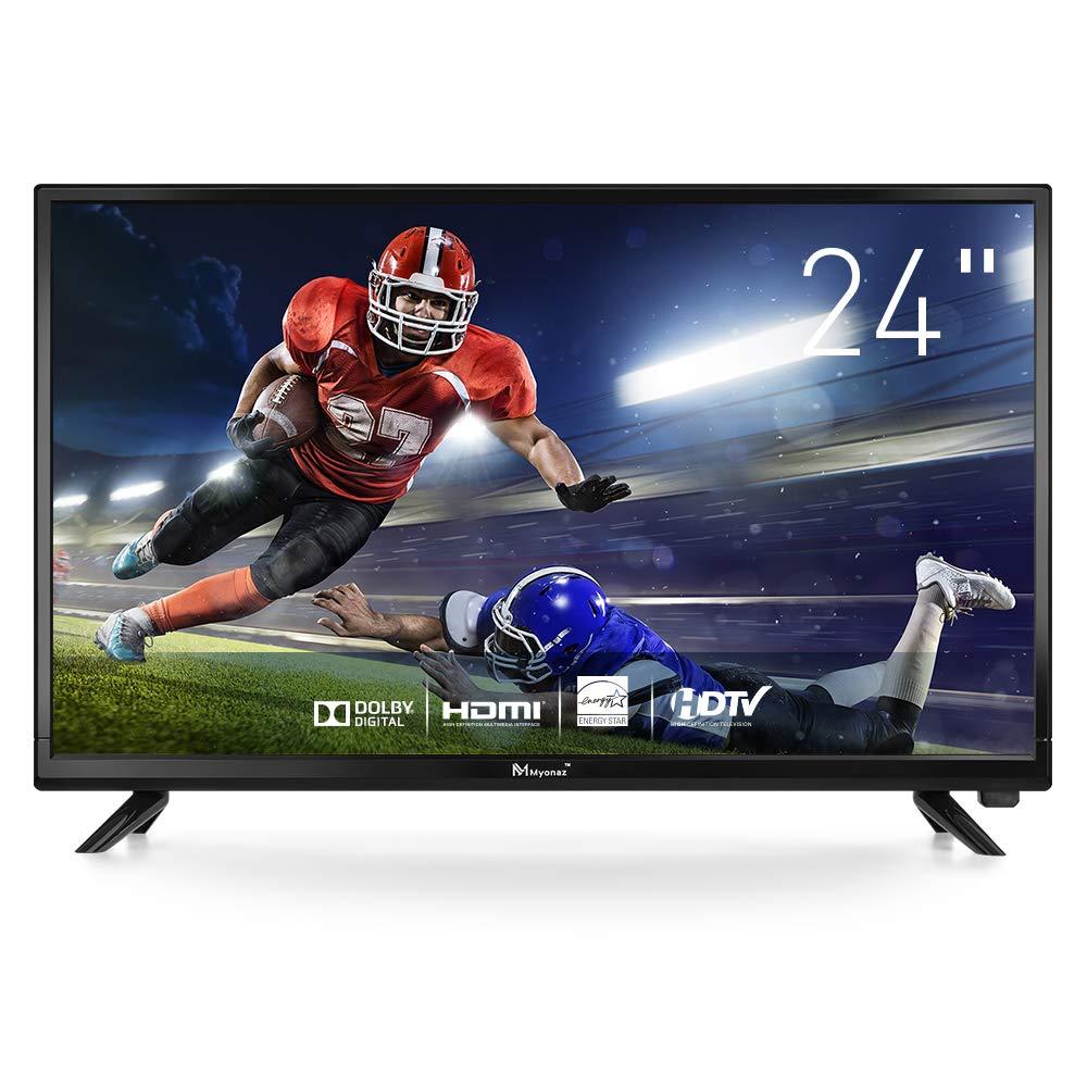 Myonaz LEDHDTV24inch720pFlatScreenTV 2XHDMIUSB, PC Audio, RF, VGA (24 inch)