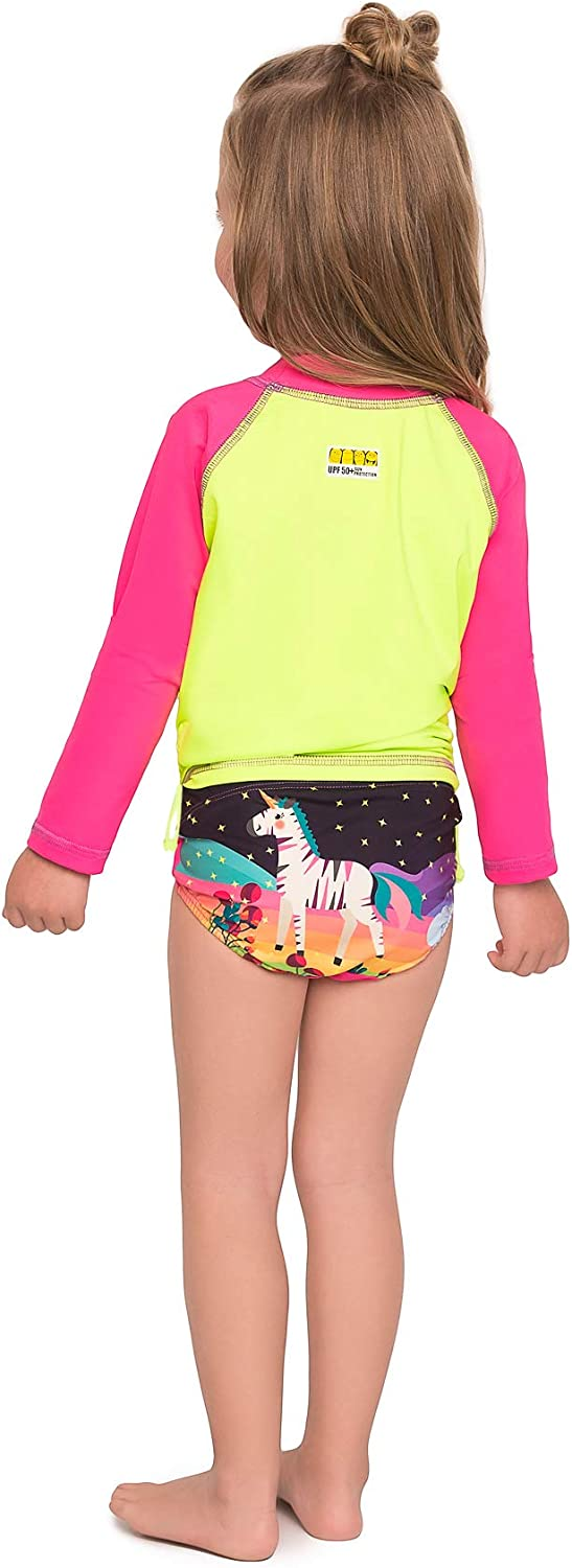 Color Fingers Long Sleeve Swim Set