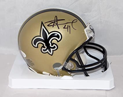1921e085 Alvin Kamara Autographed Signed New Orleans Saints Mini Helmet- JSA  Authentic Witnessed Auth
