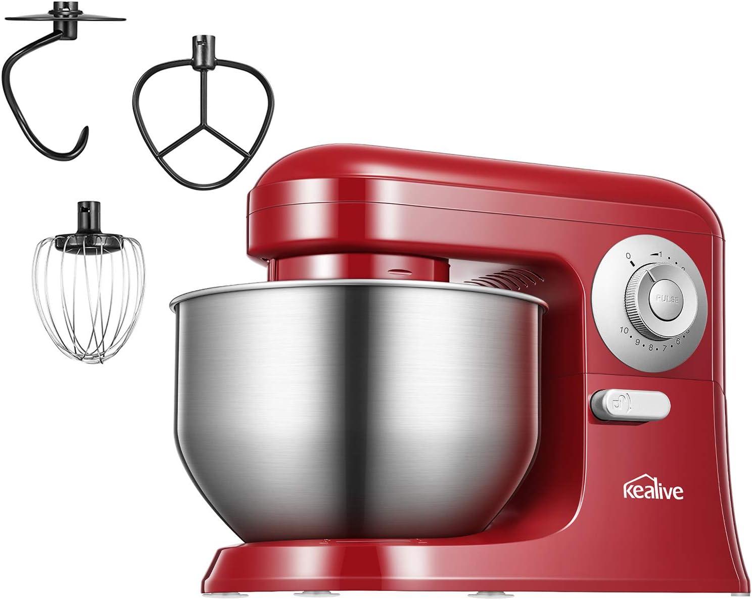 Batidora Amasadora, Robot de cocina multifuncional Kealive 10 ...