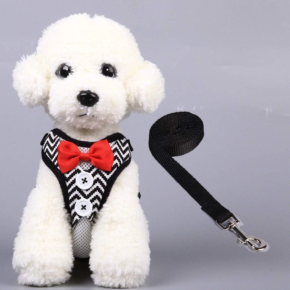 MYYXGS Esmoquin para Mascotas para Gatos y Cachorros, Chaleco Protector de Gato, Cinta de 1.2M, Pajarita y Accesorios de Botones M