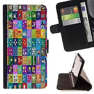 Dragon Case - FOR Sony Xperia Z3 D6603 - to work terribly - Caja de la carpeta del caso en folio de cuero del tir¨®n de la cubierta protectora Shell