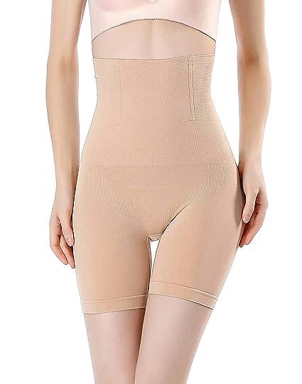 3d84079a20 FLORATA Women s Hi-Waist Body Shaper Butt Lifter Shapewear Trainer Tummy  Control Panties Seamless Thigh
