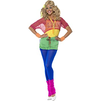 Disfraz ochentero estilo aeróbic para mujer traje deportivo Nena