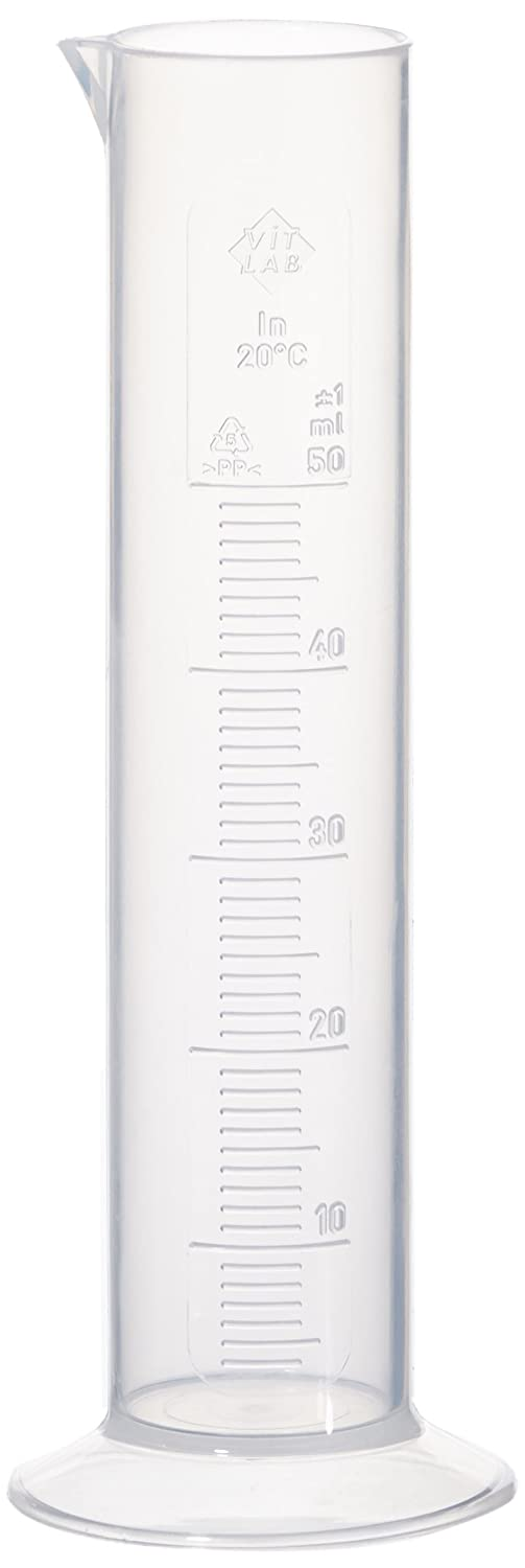Neolab 4035  measuring cylinder, low form, round base, PP 50 ml. E-4035