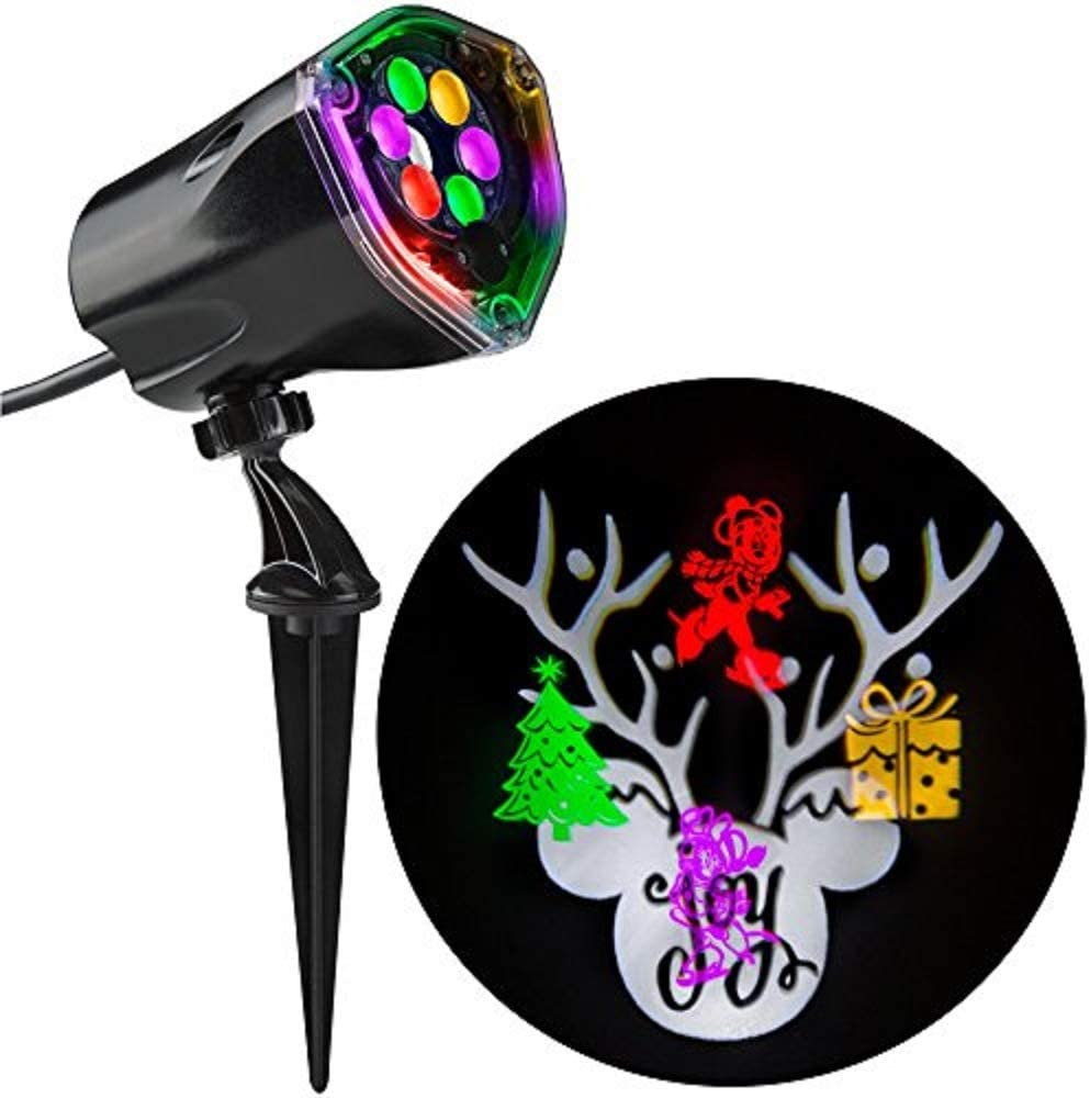 Disney Mickey Mouse Ears LightShow Swirling LED  Spotlight Projector Christmas