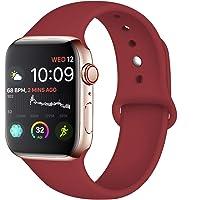 Tfheey Brand Compatible Apple Watch Correa 42mm 38mm 44mm 40mm, Silicona Blanda Deporte de Reemplazo Correas Compatible iWatch Series 4, Series 3, Series 2, Series 1 S/M, M/L