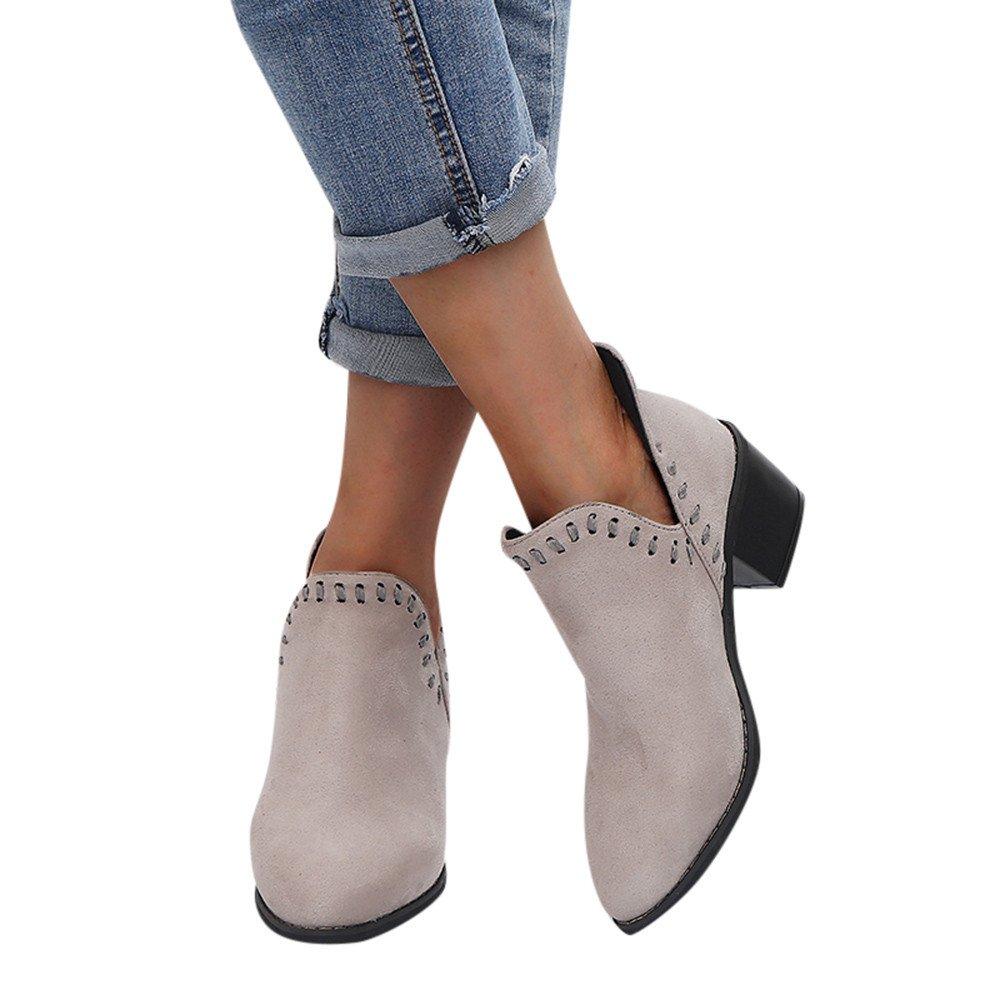 Femmes Chaussures, Sonnena Bottes Femmes Dames Automne Chaussures Chaussures Classiques Cheville Solide Roman Bottes Courtes Chaussures Solide Bout Pointu Simple Shoes