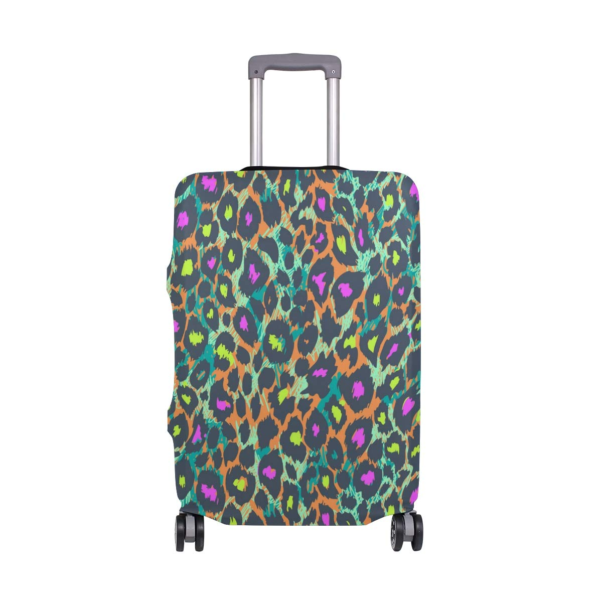 Baby Colorful Leopard Print Pink Traveler Lightweight Rotating Luggage Protector Case Can Carry With You Can Expand Travel Bag Trolley Rolling Luggage Protector Case